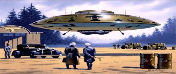 Durante a ascensão de Adolf Hitler ao poder, um grupo de estudiosos e técnicos nazistas aprenderam os segredos de propulsão anti-gravitica e viagens espaciais de extraterrestres. Os factos destas descobertas podem chocar e surpreender. Obtenha os factos sobre os Terceiro Reich nazista e os segredos ufológicos da II Guerra Mundial que irão mudar a nossa forma de olhar para as estrelas para sempre.