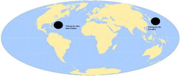 Triângulo das Bermudas e Triângulo do dragão 1