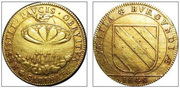 Será que esta enigmática moeda francesa fornece evidências históricas sobre avistamentos de ovnis 3